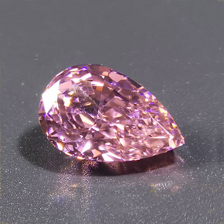 9*14mm Super Shiny Special Oval Cutting Pink Synthetic Cubic <strong>Zirconia</strong> Diamond USA Import Rough Stone
