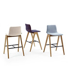 High Quality Nordic Solid Wood Bar Chair Modern Minimalist Coffee Shop High Stool Office Dining Chair legs