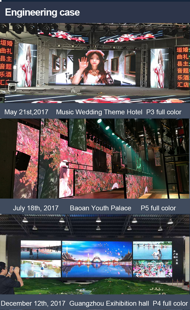 New Design Outdoor P4.81 Waterproof Stage Rental Led Display Screen Cabinet