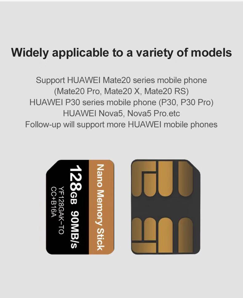 High Quality Original Stock packaging memory card nm nano sd 128gb With Best Price memory card