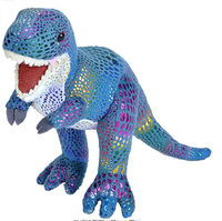Factory Direct Dinosaur Stuffed Animal Plush Toy Kids Gift Glitter dinosaur toy for play/standing plush glitter dinosaur toy