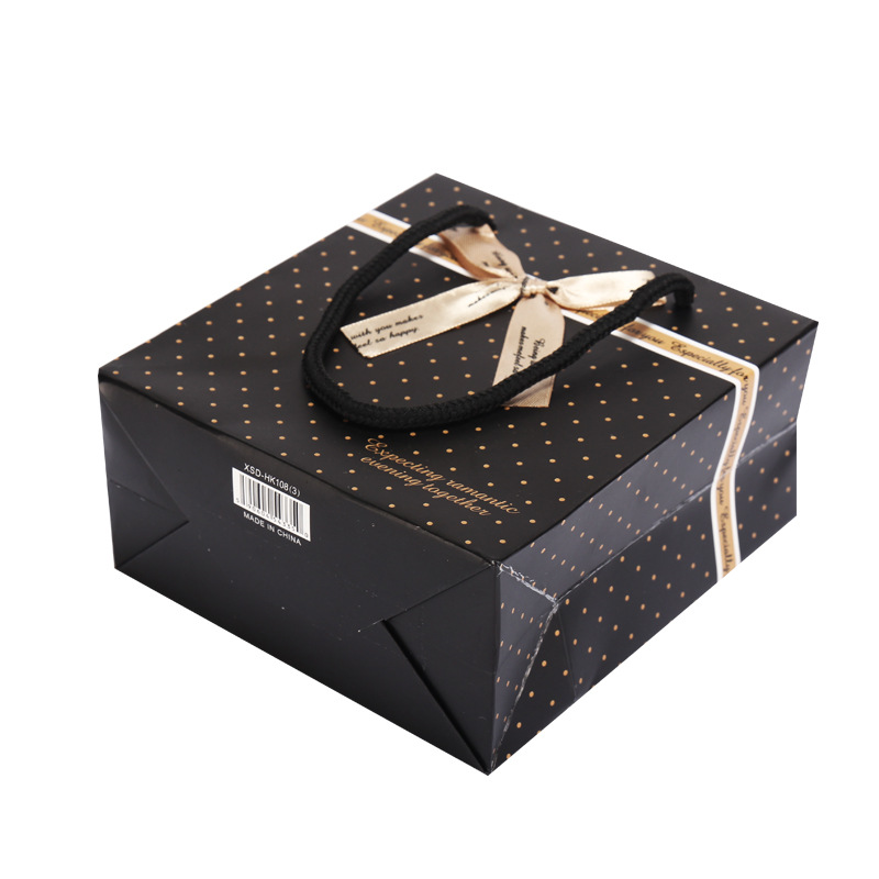 product-Dezheng-Small Medium Large Custom Size Bulk Shopping paper packaging bag With Handles-img-1