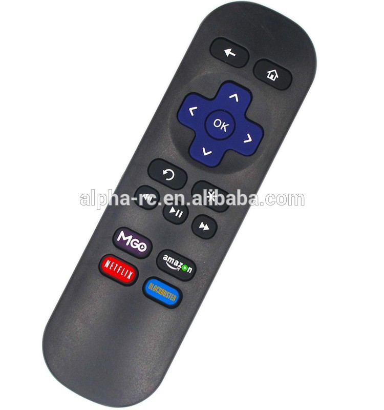 Hot sale remote control use for ROKU TV ROKU4-B with MGO NETFLIX AND AMAZON for roku 1/2/3/4/ LT HD XD XS MLK247
