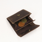 High Quality Genuine Leather Wallet Vintage Men Coin Purse Mini Pocket Wallet