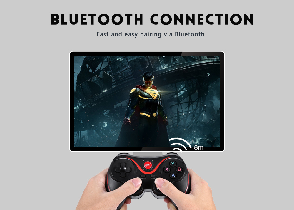 X3 Wireless Game Controller Remote X3 Joystick for Playstation 3 PS3 Console Game Bluetooth Gamepad