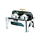 Full Size Electric Roll Top Catering Chafing Dish Food Warmer Chafer