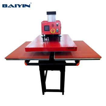 Factory wholesale price  Pneumatic double station heat press machine