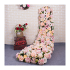 LFB694 Trending products 2020 new arrivals customized silk flower table runners wedding decor