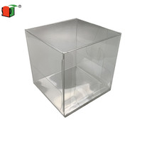 Eco-friendly clear transparent pvc cake packaging box
