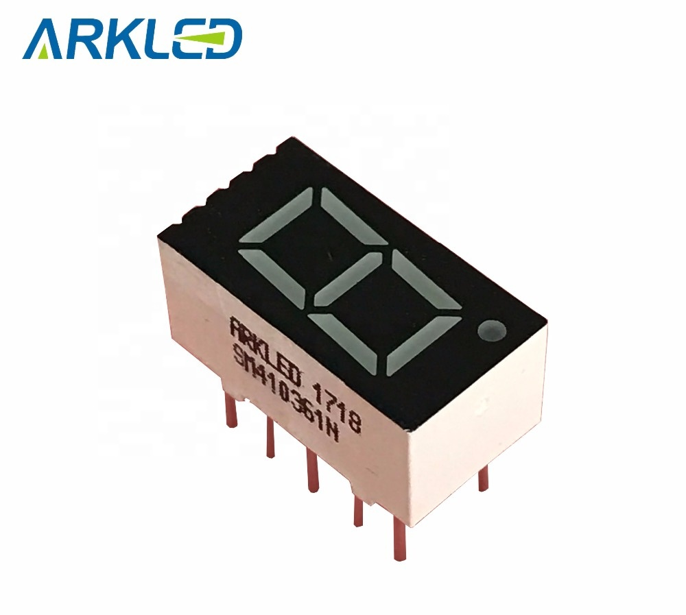 7 segment led display module 0.36 inch green color single digit