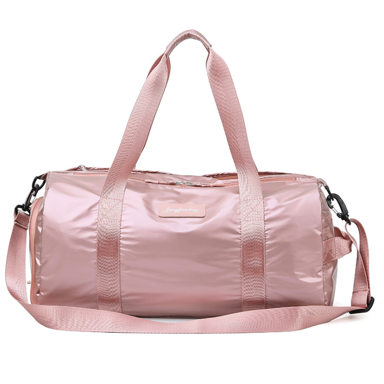 Osgoodway2 Fashion Shiny Sequin Travel Luggage Bag Yoga Sport Duffel Bag Workout Gym Bag For Girl