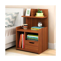 Wood nordic night stand wooden bed side table with drawers