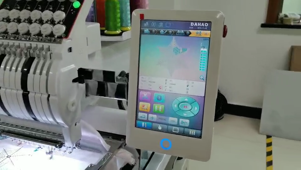 ningyue nantong computerized 1000RPM industrial flat embroidery machine cap embroidery machine