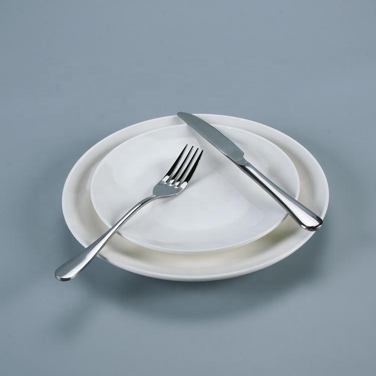Jinqiangyi Manufacturer Restaurant Hotel White Porcelain Dinnerware Plate, Custom Wholesale Bulk Ceramic White Dinner Plate