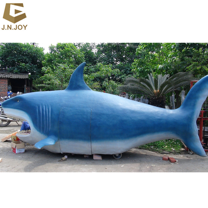 JN-DL-FS75 Glasvezel Marine Animal Shark Sculptuur