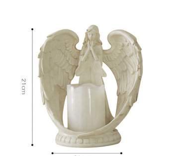 Wedding gift ,Resin Angel electronic Candlestick holder cute Party Home Decor