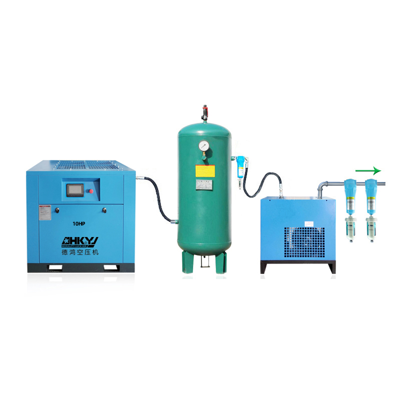 7.5KW factory uses 10HP variable frequency screw air compressor