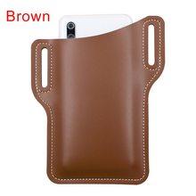 Поясная сумка для мужчин, повседневная Кожаная поясная сумка в стиле ретро, поясная сумка для женщин, дорожная сумка для телефона(Китай)