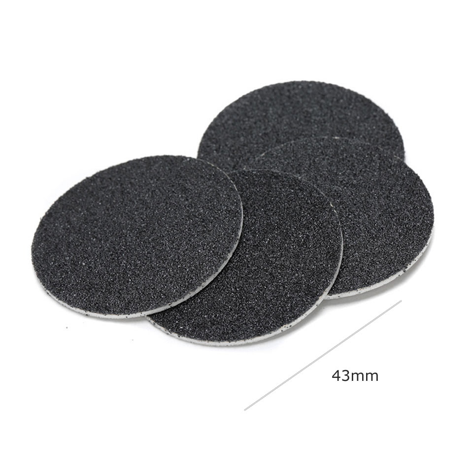 60Pcs 43mm Replaceable Sandpaper Disc Pedicure Care Polishing Sand Foot File Drills Accessories Cuticle Callus Remove Tool