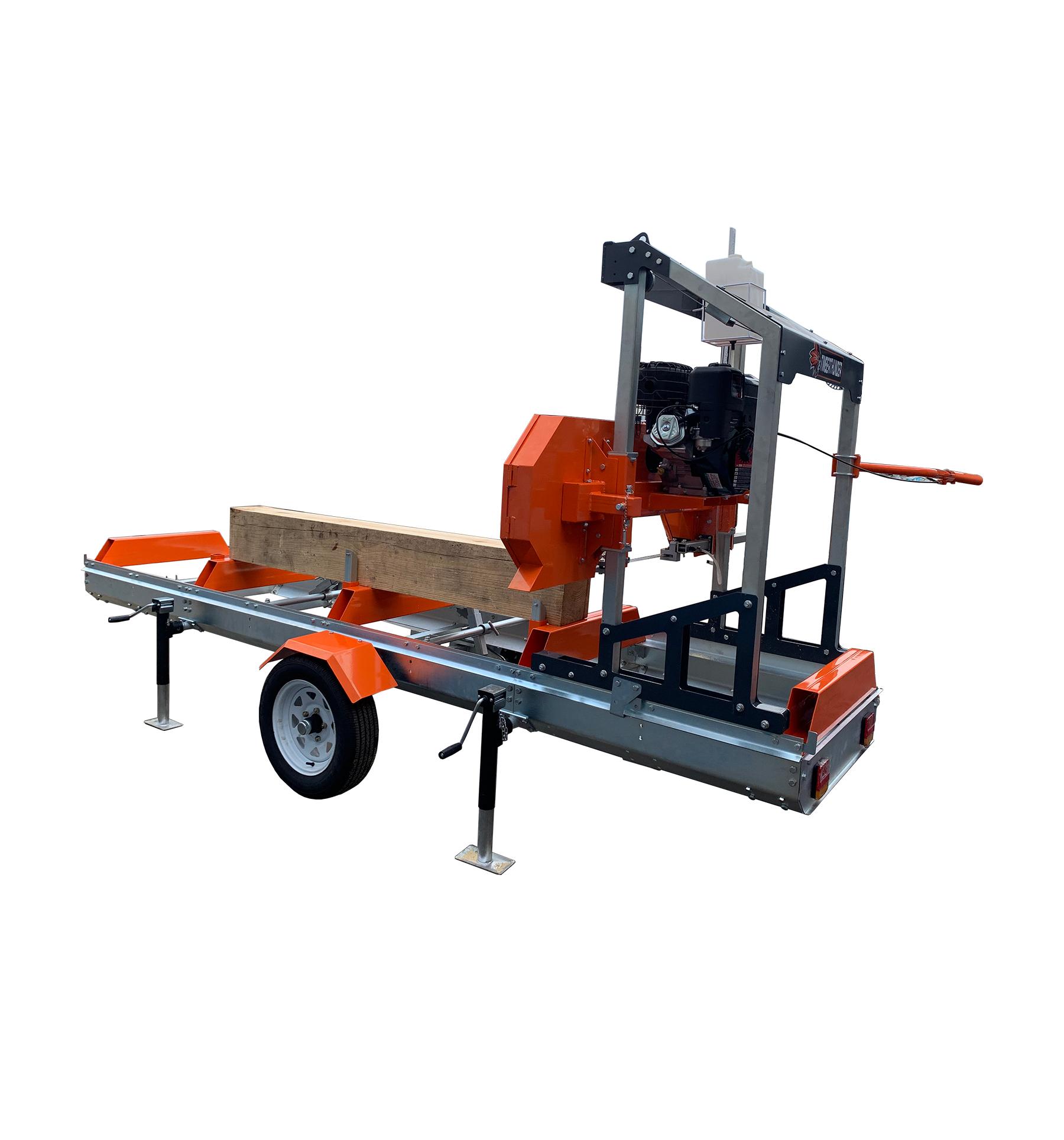 Horizontal diesel log portable band sawmill for log