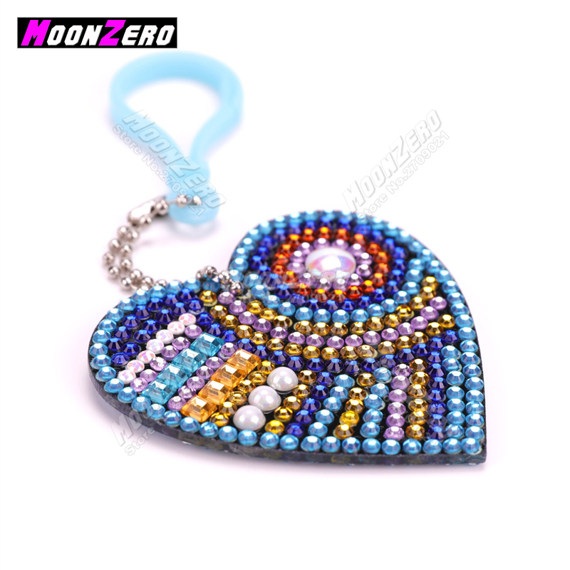 Hot Sale New Design diamond Painting Cross Stich Key Chain Lovely Heat Shape Set
