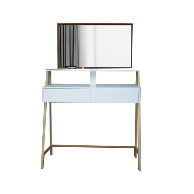 White Bedroom Wooden Modern Cheap Mirror Furniture Dressing Table