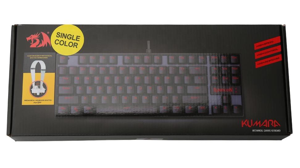 لوحة مفاتيح K552 KUMARA Led بإضاءة خلفية 87 مفتاح سلكية ميكانيكية للألعاب Redragon