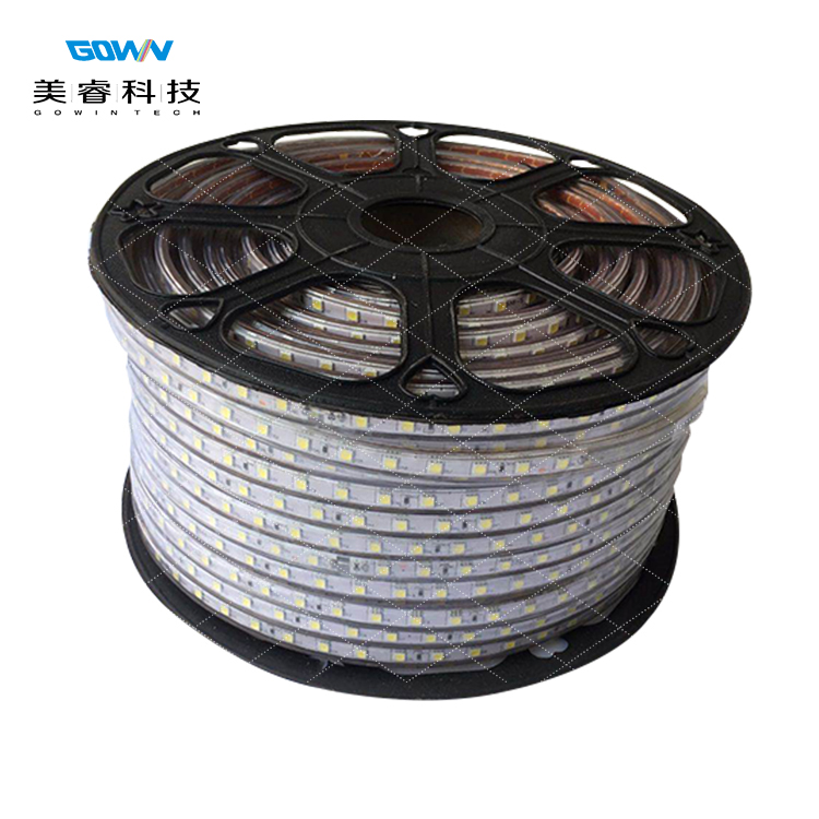 IP67 IP68 Waterproof  AC110V 220V High Voltage led strip light 5050 Easy Installation for Landscape Outdoor Decoration
