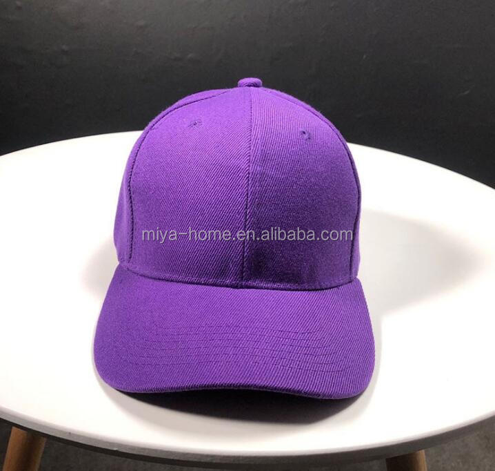 High quality solid color baseball cap / outdoor sport sunscreen sunshade caps / cotton adjustable hat