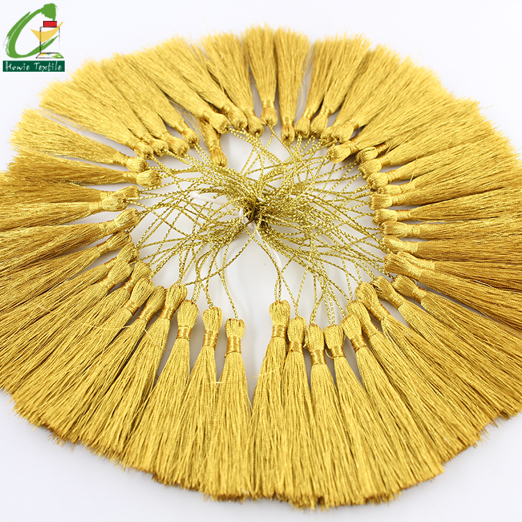 2018 Gold 20mm Layered Curtains Tassels for Bag