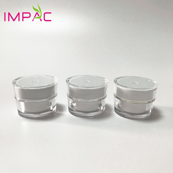 Acrylic luxury round small 5ml plastic jar for cosmetic