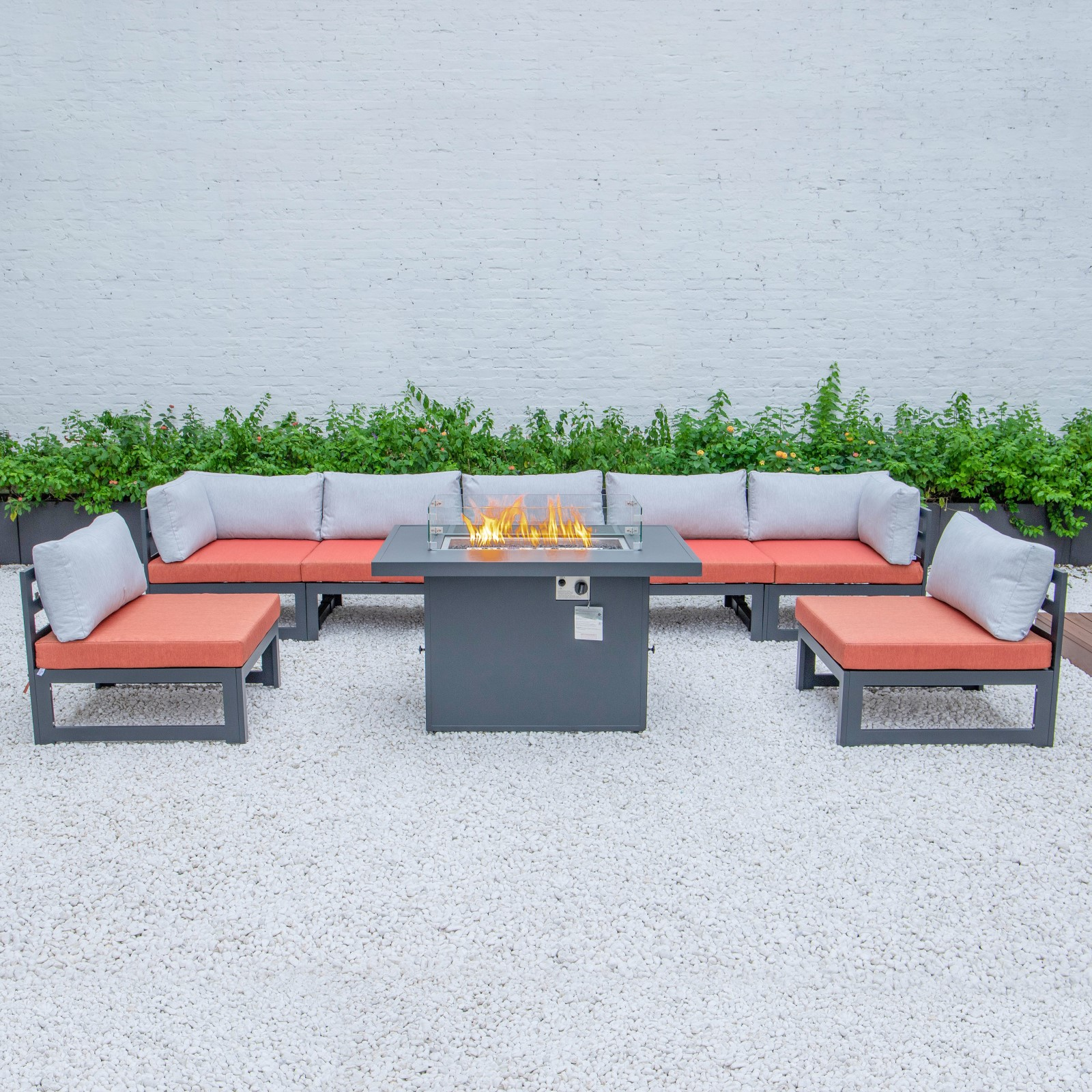 Image of: Patio Outdoor Sofa Outdoor Rattan Sofa Wicker Sofa Sets With Firepit Table Buy Outdoor Rattan Sofa Set Outdoor Rattan Sofa With Firepit Patio Sofa Set With Firepit Table Product On Alibaba Com