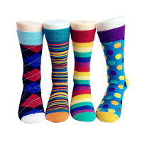 High quality custom crew cotton sweat crazy colorful private label men 100% cotton socks manufacturers in china