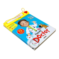 print children sound board book, children English funny music story book printing