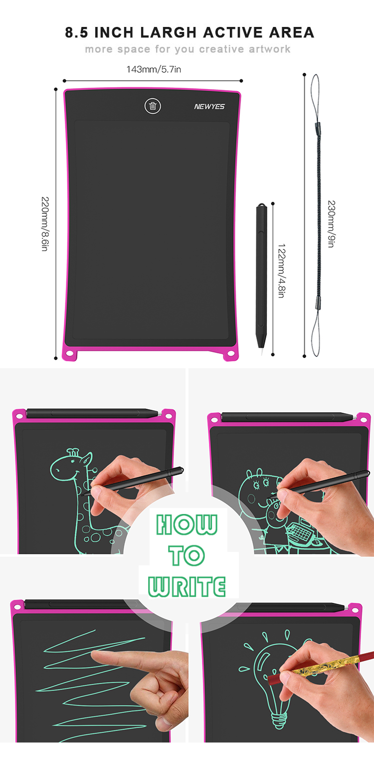 Newyes 2020 Paperless Lcd Writing Tablet Doodle Sketch Pad Electronic Digital Drawing Tablet For Kids
