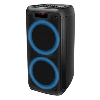 Temeisheng Dual 8 inch Party Karaoke Portable Professional Wireless Speaker with Flashing LED Light 100 Watt Power Heavy Bass