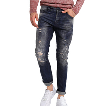 Groothandel Custom Nieuwe Euro Fashion Slim Ripped Men'S <span class=keywords><strong>Jeans</strong></span> <span class=keywords><strong>Broek</strong></span>