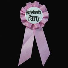 Круглые бледно-розовые значки на пуговицах 4,5 см, вечерние девичьи Значки для девочек, брошь на день рождения с лентой(Китай)