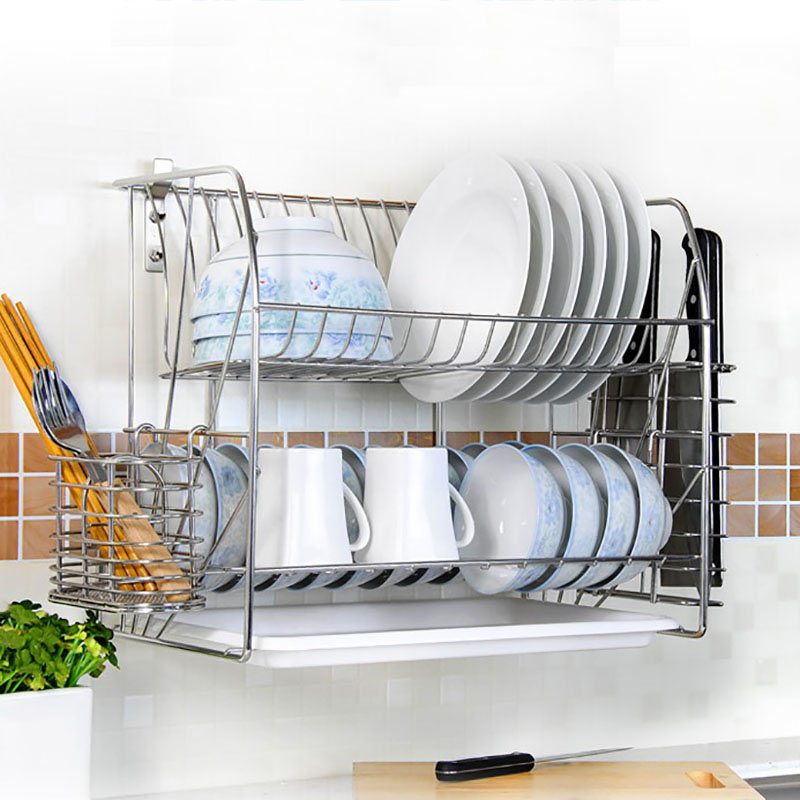 Stainless Steel Wall Mounted Dish Drying Racks Drainer Organizer Quality Assurance Economical Diy Dish Drainer Rack