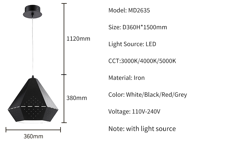 Good Price Coffee Shop Led White Black Ceiling Pendant Light For Stairs