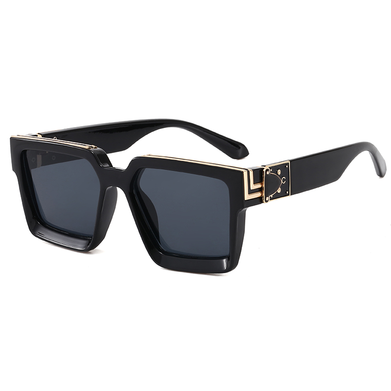 Superhot Eyewear 43300 Fashion 2020 Men Women Square Oversized UV400 Black Shades Sunglasses