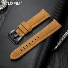 REMZEIM винтажные Ремешки для наручных часов из натуральной кожи 4 вида цветов ремень 20 мм 22 мм 24 мм 26 мм женские и мужские часы ремешок аксессуа...(Китай)