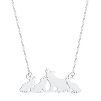 Stainless Steel Teen Wolf Vintage Jewelry Tibetan Wolves Silver Women Pendant Necklace