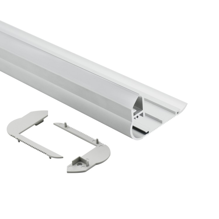 LTD8050 led indirect light profile surface mounted staircase aluminum angle nosing profile for stair step aluminum light