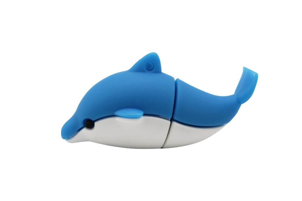 Cute Cartoon Dolphin Pendrive USB 2.0 3.0 Flash Drive 1GB 2GB 4GB 8GB 16GB For Gift