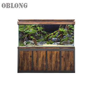 Wholesale square fiberglass fish tank aquarium light tank for sale