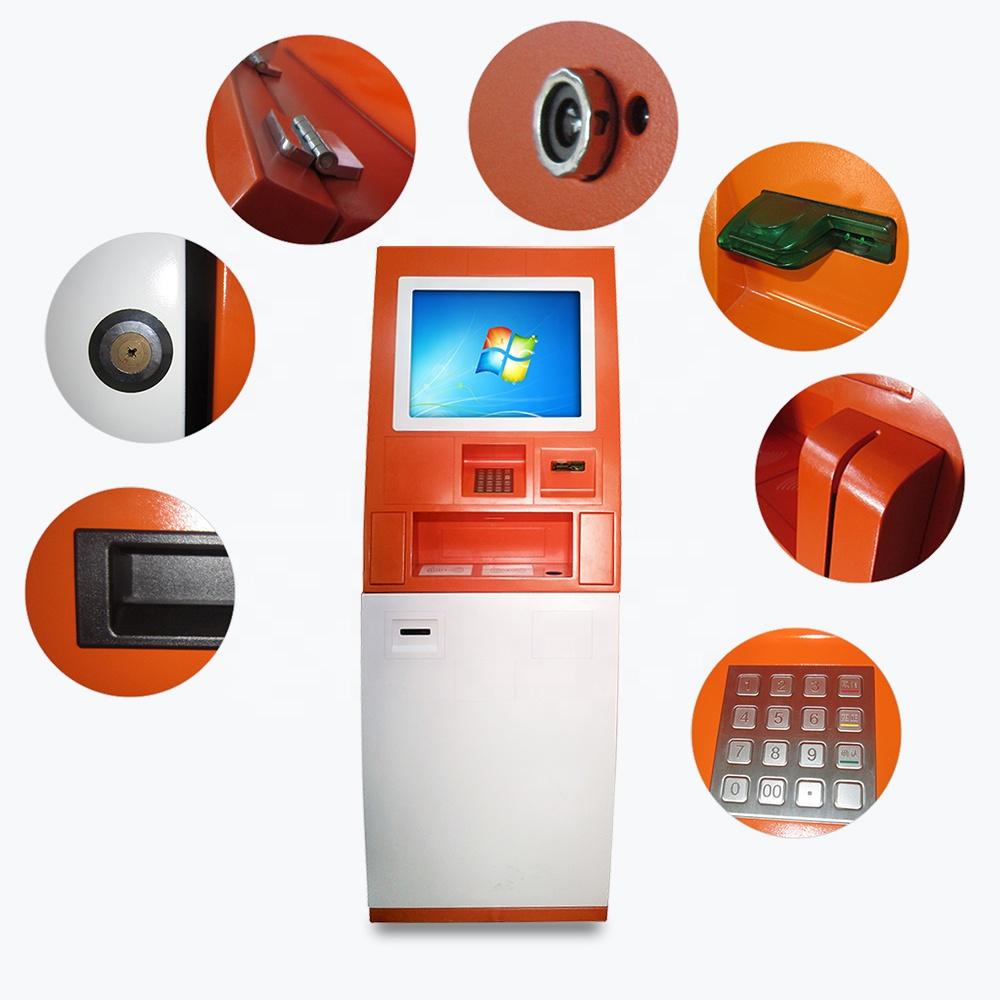 19 Inch PCAP Touch Screen Bill Payment Kiosk, Self Service Kiosk As Bitcoin ATM And Currency Exchange Machine