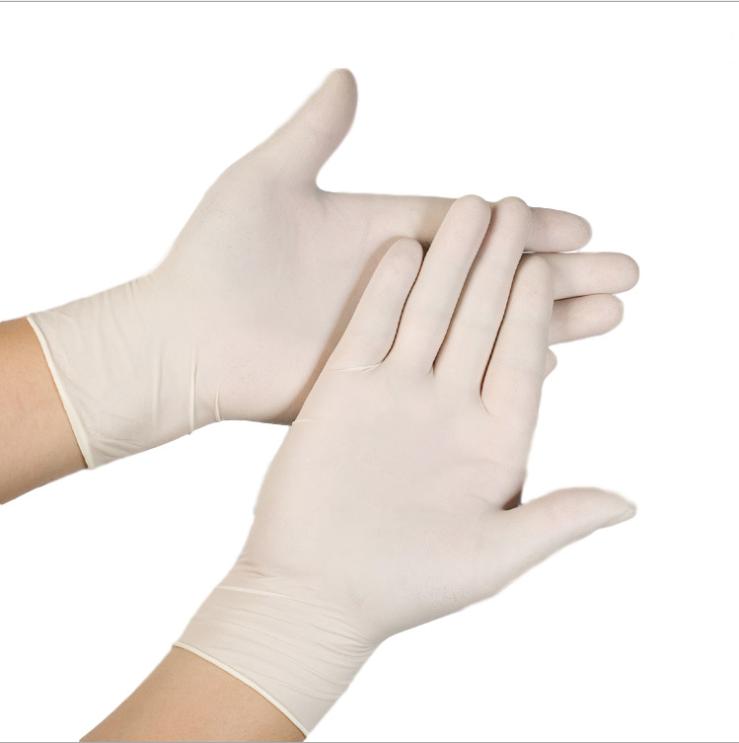 ถุงมือยางลาเท็กซ์แบบใช้แล้วทิ้ง,ปราศจากเชื้อมีความยืดหยุ่นปราศจากผงทางการแพทย์ตรวจร่างกายดูแลมือ