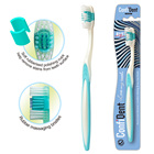 Hot sale eco soft bristle receding gums suree toothbrush plastic toothbrush with pack
