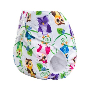 Reusable ecological adjustable cotton cloth baby diaper